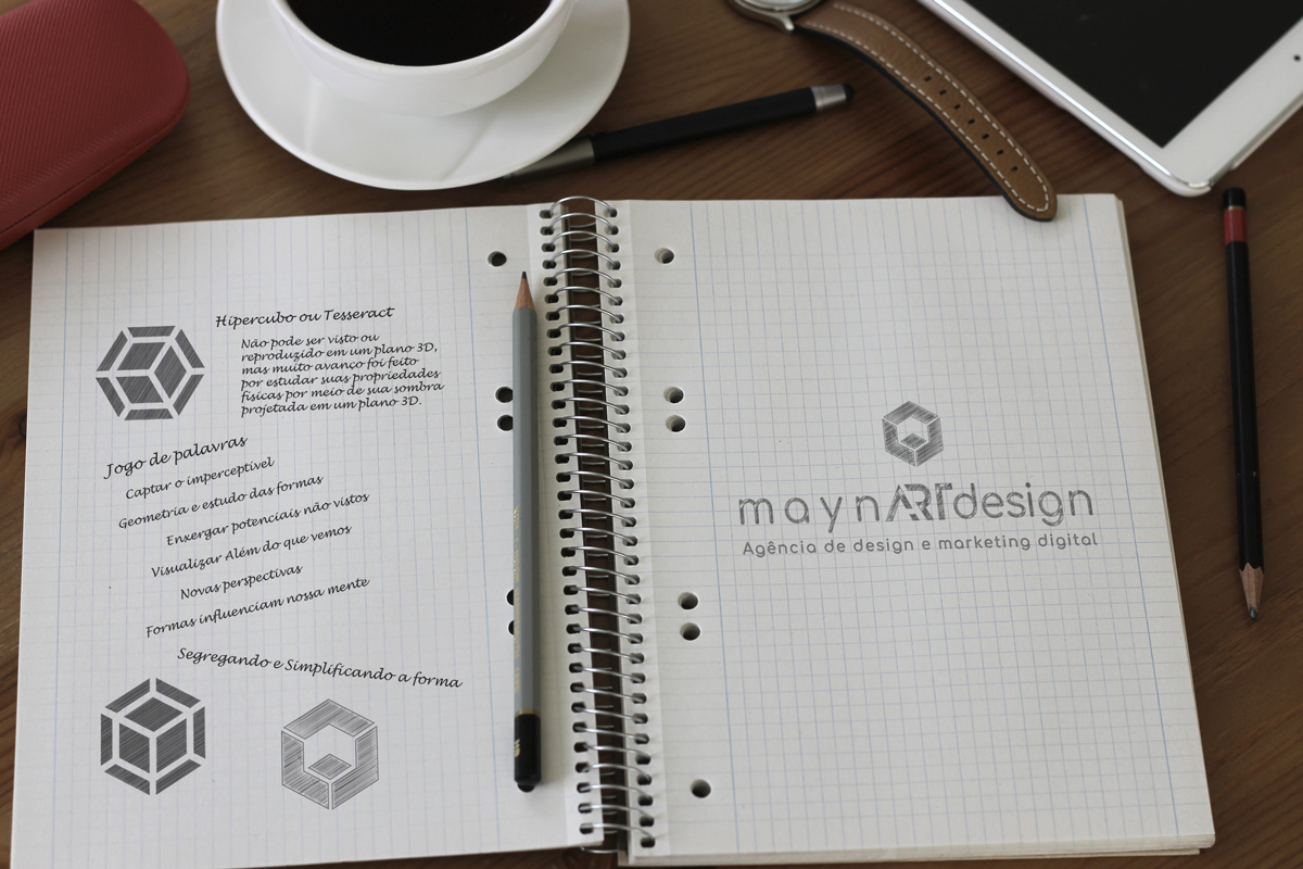 maynARTdesign | Branding Esboço